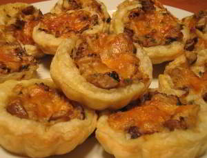 рецепт Корзиночки с белыми грибами