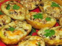 рецепт Лодочки из картошки в мундире