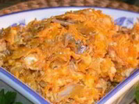 рецепт Морковного салат с мясом