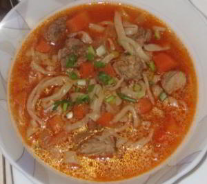 Суп с лапшой для лагмана