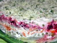 рецепт Домашний слоёный салат