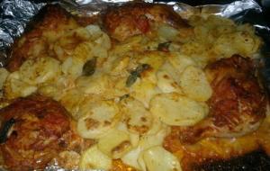 Картошка с окорочками в фольге