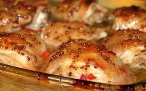 рецепт Курица в медово-горчичной глазури