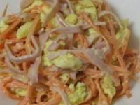 рецепт Салатик с ветчиной и морковкой по-корейски