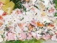 рецепт Салат из курицы с ананасами