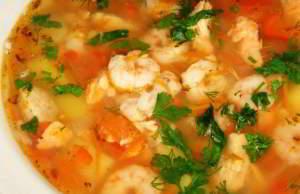 рецепт Суп с с креветками