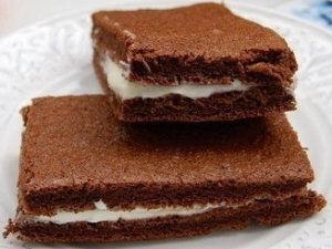 рецепт Пирожные Киндер милк слайс