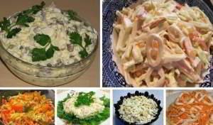 6 простых и вкусных салатов с кальмарами