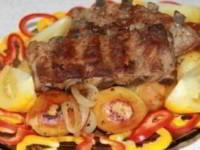рецепт Картофель с ребрышками в мультиварке