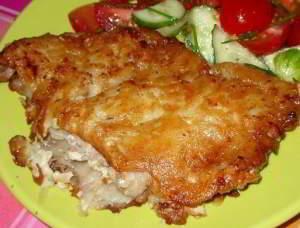 рецепт Мясо в картофельной корочке