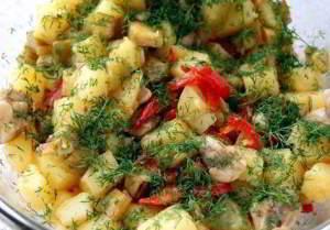 рецепт Овощи с курицей
