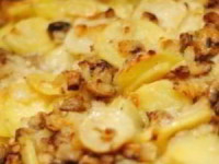 рецепт Картофель с шампиньонами в сметане