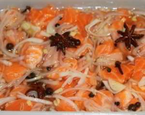 рецепт Маринованная семга по-восточному