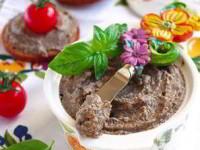 рецепт Дип из запеченных баклажан с грибами