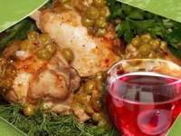 Арменонвиль — цыпленок с картофелем, горошком и зеленой фасоль