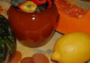Джем из кабачков (тыквы) с курагой и лимоном 2
