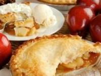 Закрытый пирог с яблоком и карамелью