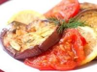 Закуска с баклажанами и помидорами