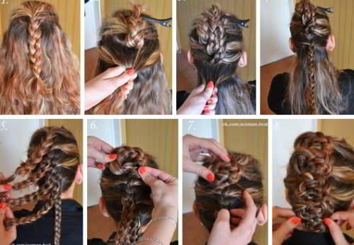 Легкая прическа из кос