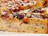 Пирог с яблоками и сухофруктами