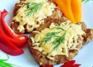Шницель с горчицей и хреном по-баварски