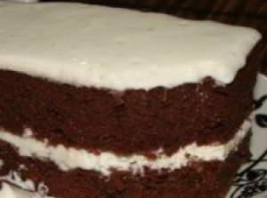Шоколадный торт с воздушным кремом