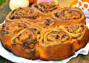 Яблочно-тыквенный пирог с сухофруктами и орехами