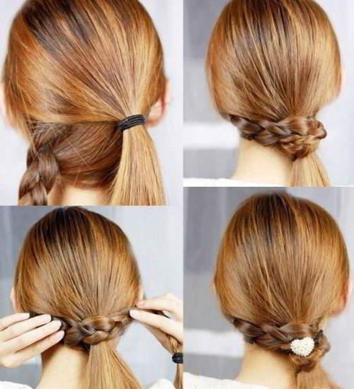 прическа коса на хвост