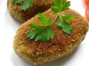рецепт Баклажанные котлетки со сладким перцем