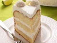 рецепт Белоснежный бисквитный торт Зимний