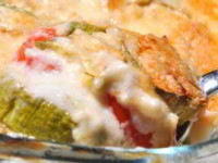 рецепт Запеканка из кабачков с соусом бешамель