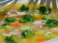 рецепт Куриный суп с брокколи