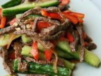 рецепт Огурцы с мясом по корейски