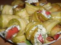 рецепт Рулетики из кабачков