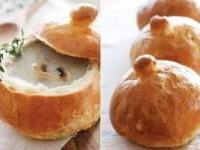 Грибной крем-суп в хлебе