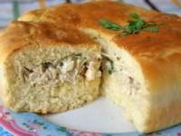 """Нежнейший и сочнейший пирог с курицей и соусом Бешамель """"Вдохновение нежности"""""""