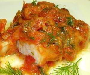 Рыба, тушеная по-русски
