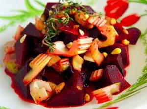 Салат из свеклы с сельдереем