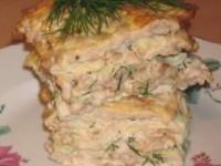 Яично-мясной тортик — вкус шавермы