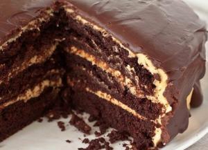 Влажный шоколадный торт (с ореховым кремом)