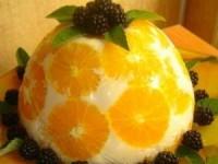 """Желейный торт """"Апельсины в йогурте"""""""