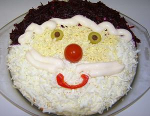 Оригинальный и вкусный Салат Дед Мороз - новогодние рецепты
