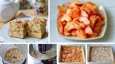 Персиковый пирог на сметане