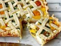 Пирог с картофелем, яйцами и ветчиной