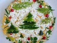 Салат «Новогодний» с креветками - новогодние рецепты