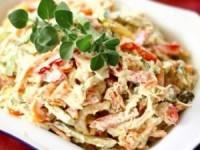Салат с курицей и грибами 43