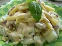 Салат с языком и сыром