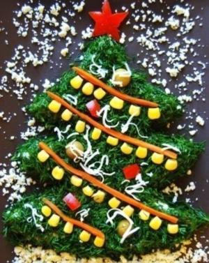 Чесночно-сырная закуска «Ёлочка, гори!» - новогодние рецепты