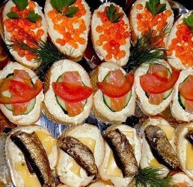 Бутерброды закусочные для любителей рыбки