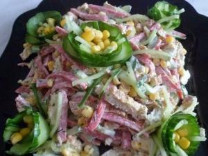 Вкусный и простой салатик